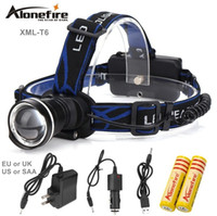 phares cree haute puissance achat en gros de-AloneFire HP87 2000Lumens phare Cree XM-L T6 led lampe frontale LED haute puissance