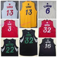 Wholesale 13 Basketball Jersey - 2017 Christmas Jersey 2016 Xmas Day Shirt 32 Karl Anthony Towns 13 Paul George 3 Chris Paul 32 Blake Griffin 6 Clarkson 22 Andrew Wiggins