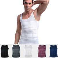 Wholesale Men S Slimming Tummy - Men Slimming Body Shaper Vest Shirt Tank Top Men's Tummy Waist Vest Lose Weight Shirt Slim Compression Muscle Tank Shapewear for Men