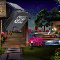 Wholesale Solar Powered Balcony Lights - 30LEDs Solar Panel Power Wall Light Outdoor Garden Lamp IR Infrared Motion Sensor Control LED Solar Lamps for Garden Balcony Courtyard