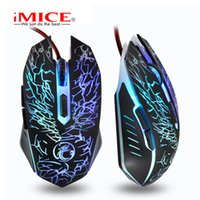 Wholesale Mouse X5 - Original iMice X5 Professional Wired Gaming Mouse USB Optical Computer Mouse 6 Buttonss For DOTA 2   CS GO  LOL Gamer Laptops Desktops
