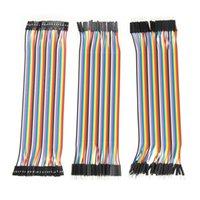 Wholesale Arduino Male Female - Wholesale-120pcs 20cm Dupont Line male to male + male to female and female to female Jumper Wire Dupont Cables for arduino