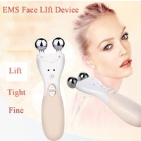 Wholesale Wholesale Iron Legs - EMS Face Lift Machine Firming Facial Skin Ultra Electrical High Frequency Ion Introduction Home Skin Care Device Free Shipping By DHL