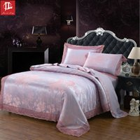 Wholesale Cotton Fabric Rose Pattern - Elegant and delicate shallow pattern cLace edge Polyester fabric bed four sets soft and smooth bedding