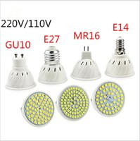 Super Bright E27 E14 MR16 GU10 Lampada LED Birne 110V 220V Bombillas LED Lampe Scheinwerfer 48 60 80 LED 2835SMD Lampara Spot Light