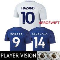 Wholesale Chelsea Player - Player Vision Chelsea Soccer Jersey #9 Alvaro Morata 17 18 Football Shirts Aeroswift Bakayoko 2017 2018 Eden Hazard Willian Away White