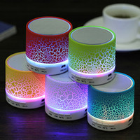 Wholesale Cheap Portable Speakers For Mp3 - Smart LED Light Crack Mini Wireless Bluetooth Speaker Portable Bluetooth Stereo Speaker Support TF Card For iphone Smart phone Cheap