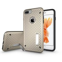 Wholesale Iphone Case Net - Premium Air Net Heat Dissipation Shockproof Case For Iphone 7 6 6s Plus Samsung Galaxy S7 LG V10 G5 Slim Cover Stand With OPPBAG