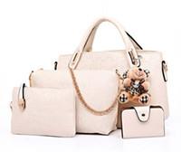 Wholesale Messenger Pieces - Famous Brand Women Bag Brand 2017 Fashion Women Messenger Bags Handbags PU Leather Female Bag 4 piece Set XP659