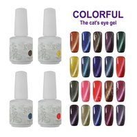Wholesale Set Uv Led - Cat Eye Gel IDO Gelish 15ml Soak Off UV LED Gel Nail Polish 24 Colors Manicure Set
