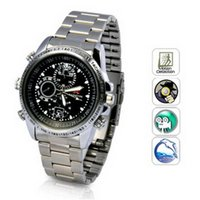 Wholesale High Quality Spy Watch - High Quality 720P Spy Wrist Watch 8GB Video Camera Hidden Steel Watch Camera DVR Mini DV Waterproof Portable Camcorder