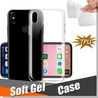 Wholesale Back Cover Iphone Silicone - Ultra Thin Slim Transparent Crystal Clear Soft TPU Gel Silicone Flexibilty Back Cover Case For iPhone X 8 7 Plus Samsung Note 8 S8 S7 Edge