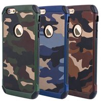 Wholesale Military Tough Case Cover - Military Hard Tough Armor Army Camouflage Case for iphone 7 Plus 6S,Durable Hybrid Defender Back Cover for Samsung Galaxy S8 plus S7 S6 edge