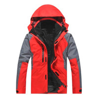 Wholesale Men S Work Clothing - Fashion outdoor clothing two pieces of detachable assault suit three in one mountaineering ski uniforms custom work clothes