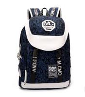 name brand backpack großhandel-Segeltuchrucksäcke Männerart und weise Markenname Spielraumschulrucksäcke große Kapazität Tote Frauen-Schulterbeutel Segeltuch-Freizeitcomputerbeutel