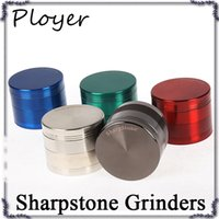 100% Original Sharpstone Grinders Rectifieuses à fines métaux en alliage de métal Tabac Sharp Stone Grinders 4Layers 40 50 55 63 75mm Big Grinder hot