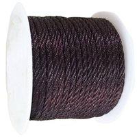 Wholesale Crafts Macrame - 3mm DK Coffee Twist Twine Thread Nylon Cord-30m Roll Craft Jewelry Accessories Macrame Rope Shamballa Bracelet Necklace String