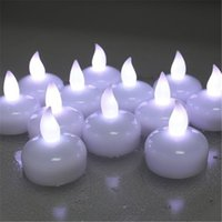 Wholesale Color Changing Candle Floating - Pack of 24 Cool White Water Candle Battery Operated Floating Flameless Candles Color Changing Multi Color Led Waterproof Candle