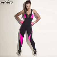 Wholesale yoga fitness clothes - Women Fitness Yoga Set Gym Sports Running Jumpsuits Jogging Dance Tracksuit Breathable Quick Dry Sportswear Clothes Suit