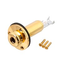 """Wholesale Jack For Electric Guitar - Guitar End Pin Jack Mono 1 4"""" for Acoustic Guitar Electric Guitar Gold"""