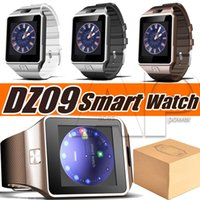 Wholesale android wrist watch mobile phone online – DZ09 Smartwatch Phone Camera SIM Card For Android Phones Intelligent Mobile Phone Watch Can Record The Sleep State with Package