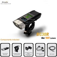 Wholesale Fenix Lights - Wholesale-Fenix BC30R Cree XM-L2 T6 LED high intensity bike light USB charger build-in lithium battery OLED screen free shipping