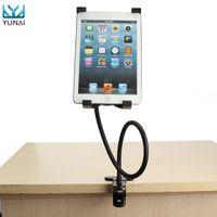 ipad hava tutacağı ayak aparatı toptan satış-Toptan-YUNAI 360 Derece Standı Tutucu Braketi Dağı için iPad 2/3/4 Hava 5-9.5 Inç Esnek Gooseneck Tablet PC Ayarlanabilir Tutucu Standı