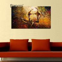 figura simple pintura al por mayor-Pintura al óleo pintada a mano de alta calidad en la lona gruesa Figuras abstractas modernas pinturas al óleo decoración de la pared del hogar simple
