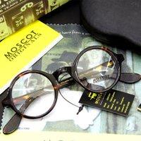 Wholesale Arrow Glass Lens - Brand 2017 Brand design round Moscot ZOLMAN eyewear johnny depp glasses top Quality brand round eyeglasses frame with Arrow Rivet