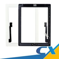 Wholesale Original Ipad3 - Best AAAA Quality Original Display For iPad3 ipad4 Touch Screen with home button Replacement Front Glass with adhesiv Part Assembly Free DHL