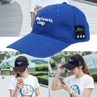 Wholesale Cap For Usb - hot Wireless Bluetooth Headphone Sports Baseball Cap Canvas Sun Hat Music Handsfree Headset with Mic Speaker for Smart Phone EAR232