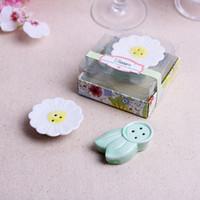 florete de flores al por mayor-Floret Shape Condiment Pot cerámica creativo regalo de boda novedad flor modelado moda Seasoning Bottle decoración del hogar 4 5xda F R