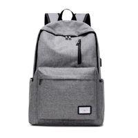 Wholesale Trunk Usb - Men's Everyday Backpack Nylon Teenager School Bag Tech Backpack Women Daypack Rucksack Laptop Bag with USB Charge Port B093