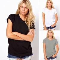 Wholesale Lazer Top - Wholesale- Women\'s New Fashion Summer T-Shirt O-Neck Lazer Cut Angel Wings Short Sleeve Casual Tops plug size