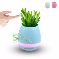 Smart LED Music Vase Haut-parleur Bluetooth Real Plant Touch Sensing Flower Pot USB Charge Imperméable Altavoces Haut-parleur Pour Bureau Accueil