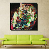 Wholesale Cheap Single Sheets - ZZ736 New Special Offer No Fallout Huge Gustav Klimt Giclee Print Canvas Wall Art Home Decor Living Room Painting Large Cheap