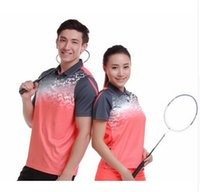 Wholesale Butterfly Badminton Clothes - 2017 running shoes sportswear quick dry breathable badminton shirt, women's   men's table tennis clothes game team short-sleeved polo t shir