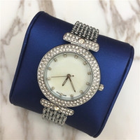 Wholesale Box Full Jewelry - Famous Designer Women Watch Full Diamond Steel Bracelet Chain Lady Wristwatch Luxury High Quality Wholesale price free shipping with box