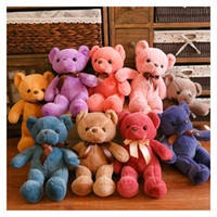 Wholesale Wholesale Children Stuffs - 33CM Soft Teddy Bears Plush Toys Stuffed Animals Bear Dolls with Bowtie Kids Toys for Children Birthday Gifts Party Decor