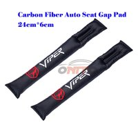 Wholesale Auto Leather Protector - 2PCS lot for auto accessories car styling vpr logo Leather Car Leakproof Protector seat apertural pad Car Seat Slot Plug