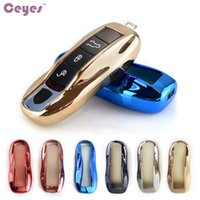 Wholesale Porsche Key Shell - Car Key Fob Holder Cover Car Styling Case For Porsche Cayenne 911 996 Panamera Macan TPU Car Shell Accessories Car-Styling