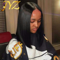 Full lace wig Bob wig Swiss Lace Front Wig Natural Color Bob Straight Front Peruvian Full Lace Wigs