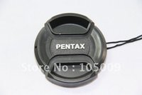 Wholesale 52 mm lens - Wholesale-49 52 55 58 62 67 mm Center Pinch Snap-On Front Lens Cap Cover for pentax PK dslr camera