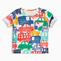 Wholesale Girls Plane T Shirt - Kids T-shirt Cartoon Cars Planes Girls Boys Shirts Summer Tops Tees Multi-color Printed O-neck Cotton T-shirts 1-10T