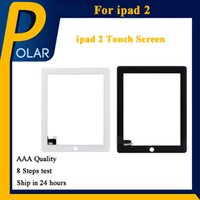 Para iPad 2 Black White OEM Digitizer Touch Screen Repair Substituição com Home Button + Adhesive Full Stocked Fast Shipping