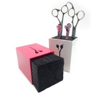 Wholesale Chinese Professional Hair - New Hair Scissors Holder Fashion Salon Professional Scissor Set Storage Box High Quality Free Shipping 4 colors