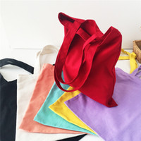 Wholesale Women Girl Canvas Shopping Handbag Shoulder Tote Shopper Beach Bag