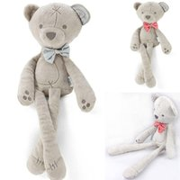 All'ingrosso- Passeggini caldi per bambole Cute Baby Kids <b>Comfort Doll</b> Peluche Smooth Obbediente Bow Bear Sleep Calm Doll Bambini bel regalo Y3