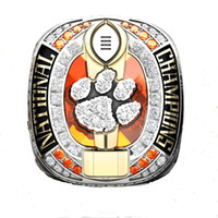 Wholesale Tiger Stone Rings - 2017 New Arrival Wholesale 2016 Clemson Tigers National Championship Rings