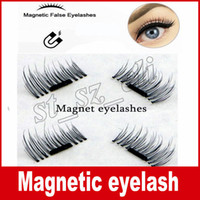 Wholesale Magnet Hot - Hot Women False Eyelashes Magnetic Lashes eye makeupTouch Soft Wear With No gule magnet eyelashes Cheap